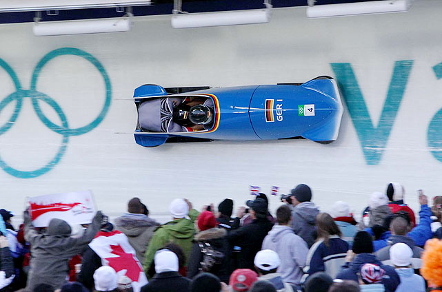 Germany's Andre Lange, bobsled's best driver won his fourth gold on Sunday, taking the two-man competition to become the winningest pilot in Olympic.