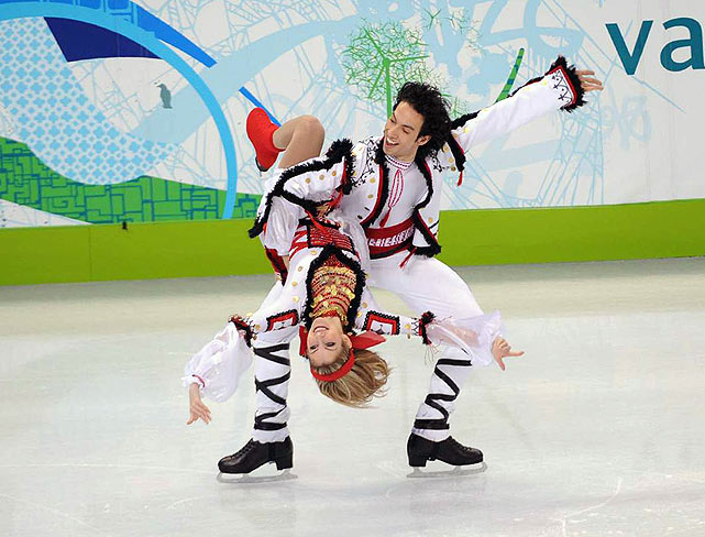 Olympic silver medalists Tanith Belbin and Ben Agosto are fourth.