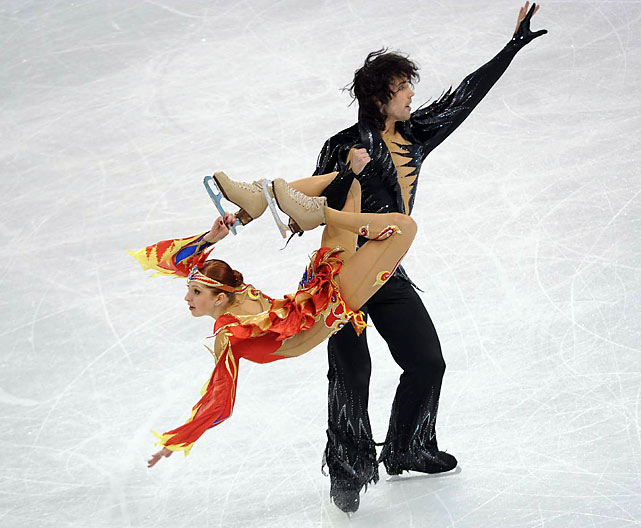 Jana Khokhlova and Sergei Novitski were the second of two Russian teams in the top 10, finishing in ninth overall.