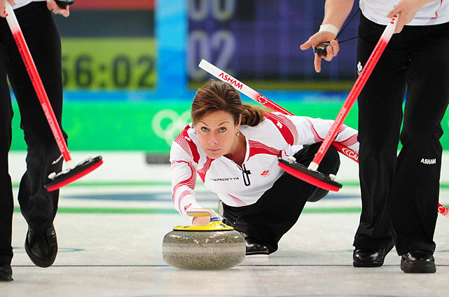 Canada's women's curling team defeated defending gold medalist Sweden 6-2 in a shortened nine ends.