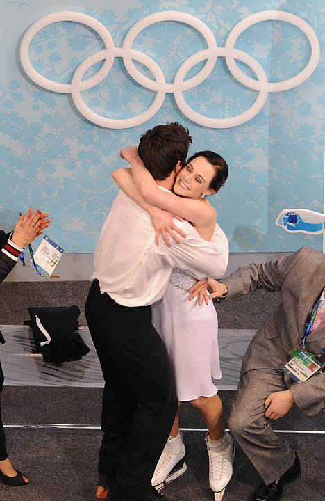 Tessa Virtue and Scott Moir won the gold.