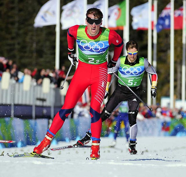 Norway's Petter Northug pulled away from Germany's Axel Teichmann to win the men's team sprint. Norway's Ola Vigen Hattestad --the reigning world champion in the individual and team sprints, and winner of the last two World Cup sprint titles -- pulled out because of a sore throat.