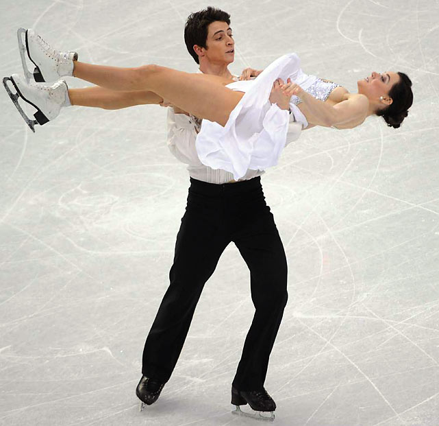 For only the third time since ice dance became an Olympic sport in 1976, the ice dancing gold went to someone other than a Russian or Soviet couple. Canada's Tessa Virtue and Scott Moir outskated their Michigan training partners, Meryl Davis and Charlie White to get a gold for the home team.