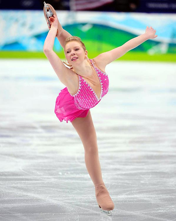 Rachael Flatt of the U.S. performs her short program during the women's figure skating competition.