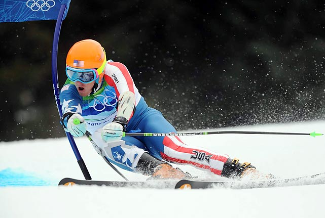 Along with Bode Miller, fellow U.S. skier Ted Ligety failed to medal in giant slalom.