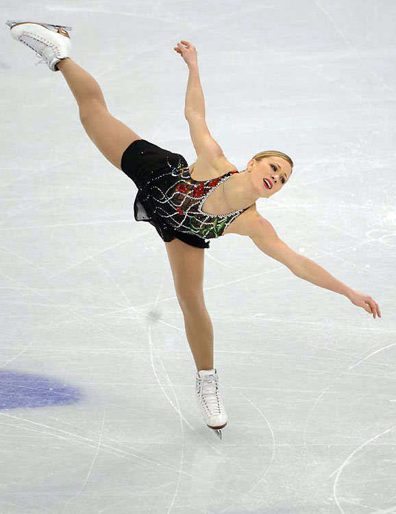 Canada's Joannie Rochette, skating just two days after the sudden death of her mother Therese, gave the most moving performance of the night.
