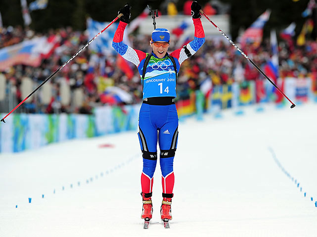 Russia had earlier secured the first gold medal of Day 12, with Olga Zaitseva finishing off victory in the women's biathlon relay in 1 hour, 9 minutes, 36.3 seconds to beat France and Germany.