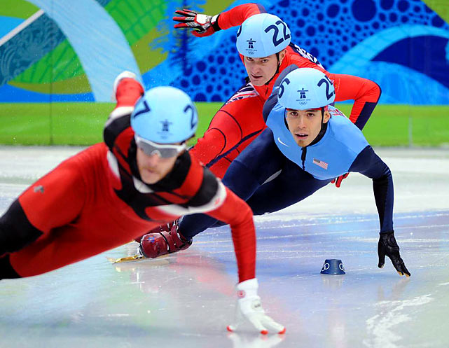Apolo Anton Ohno stayed in contention for another medal by winning his 500-meter heat. He has to endure three more rounds if he's going to extend his record of Winter Olympics medals by an American. He has seven, including gold in this event four years ago.