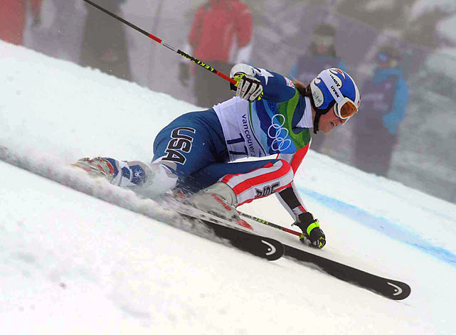 Vonn lost control in the giant slalom and crashed into the safety netting.