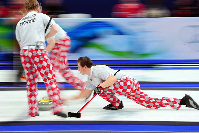 The colorfully clad Norwegians won silver in curling.