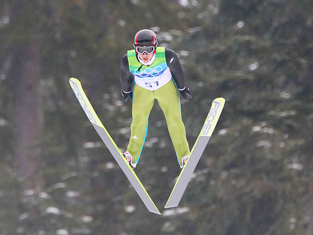Swiss ski jumper Simon Ammann took home the first gold medal at the Vancouver Games after winning the normal hill title.
