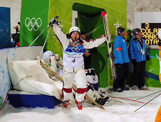 Canada's long wait for a gold medal-performance by one of its own on home turf finally materialized as Alexandre Bilodeau won the men's moguls.