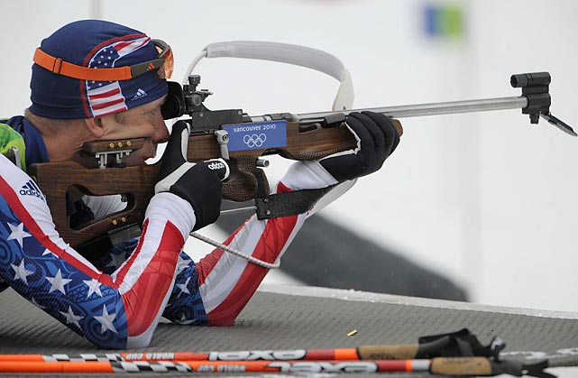 Tim Burke, from Paul Smiths, N.Y., had three penalties and finished the biathlon (10K sprint) in 26:54.8 -- good for 47th place. Jeremy Teela's ninth-place finish paced the Americans.