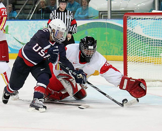 Jenny Potter now has eight goals and 18 assists in Olympic competition.