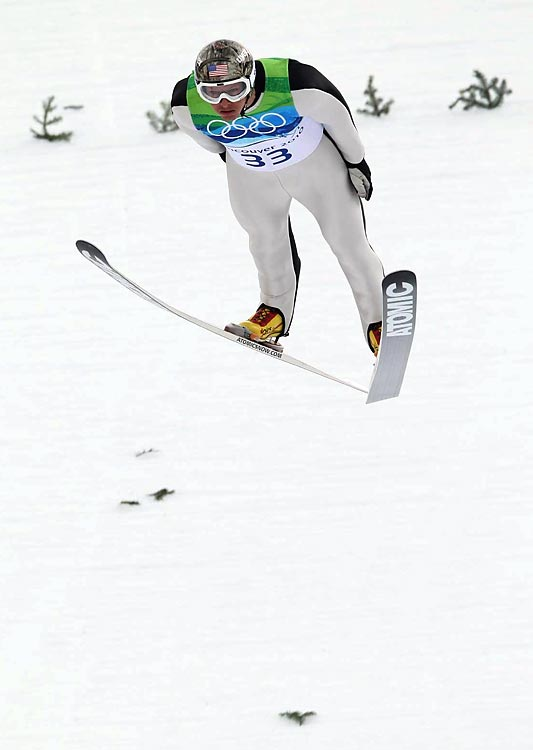 Todd Lodwick of the U.S., the reigning world champ in Nordic combined, finished fourth by seven-tenths of a second.