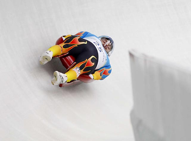 Tony Benshoof of the U.S. finished eighth in the luge.