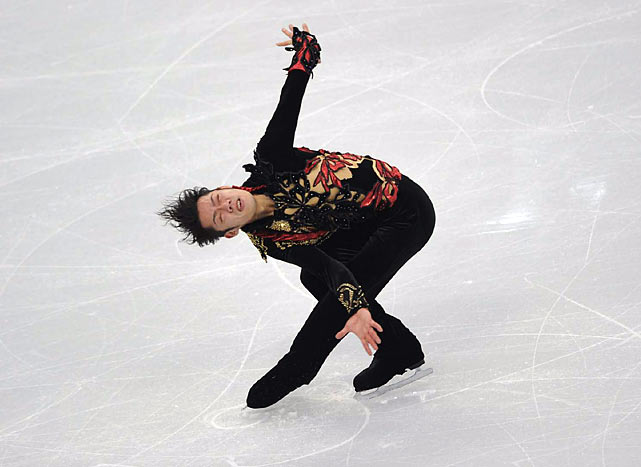 Daisuke Takahashi goes into the free skate knowing no Japanese skater has ever won the men's gold.