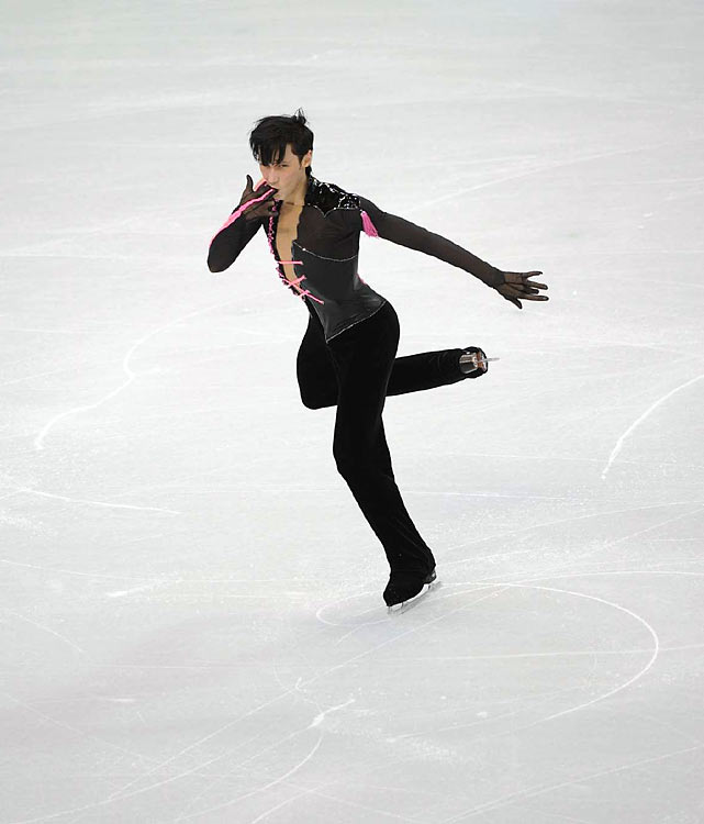 Three-time U.S. figure skating champion Johnny Weir is in sixth after the short program and figures to be out of medal contention.