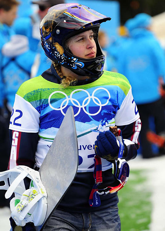 Looking to redeem herself after giving away a victory four years ago in Italy, Lindsey Jacobellis' return trip to the Olympics was even worse as she failed to make the medal round in snowboard cross. She veered off course in a semifinal race and was disqualified.