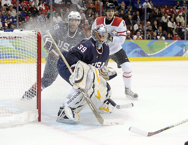 Ryan Miller, considered the key to the U.S. chances to reach the podium, made 14 saves. The U.S. will play Norway on Thursday