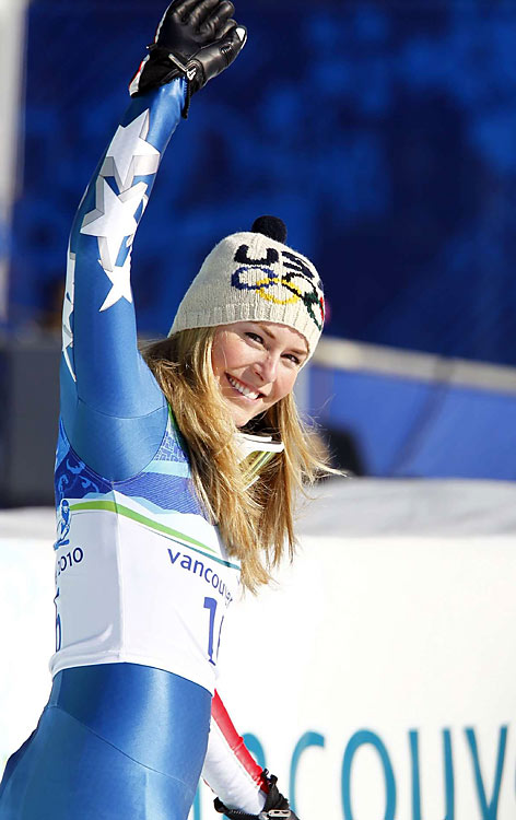 """""""This is the best day of my life, by far,'' Vonn said after winning the downhill. """"I'm overwhelmed. ...A huge weight has been lifted off my shoulders now. I got the gold medal that I came here to get."""""""