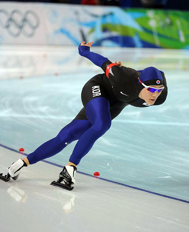 South Korea's Mo Tae-bum finished 18-hundreths behind Davis, adding a silver to his medal haul. Mo won gold in the 500 meters earlier in these Games.
