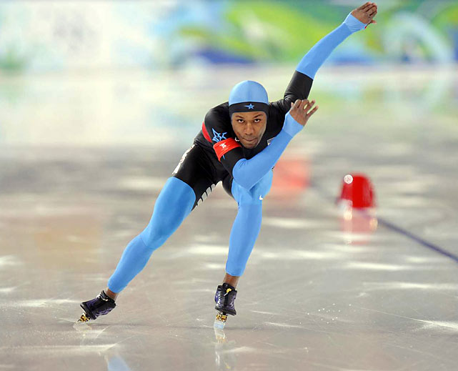 Shani Davis repeated as Olympic champion in the 1,000 meters, becoming the first male skater to win the event a second time at the Winter Games.