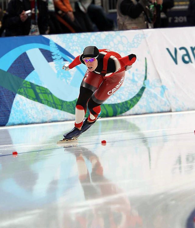 Christine Nesbitt of Canada won the 1,000-meter event by two-hundredths of a second over Annette Gerritsen of the Netherlands, matching the tightest finish in the Olympic history of the race -- Bonnie Blair's 1992 victory over China's Ye Qiaobo.