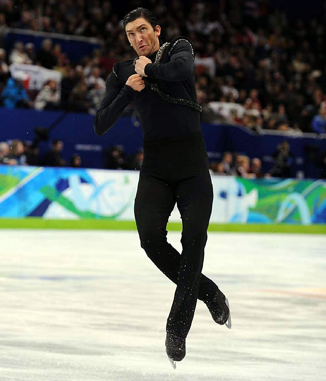 By the time Lysacek finished his final spin, fans were roaring their approval.