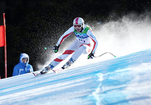 Andrea Fischbacher (pictured) turned in what pretty much everyone was calling the run of her life, in 1 minute, 20.14 seconds to win the super-G. Tina Maze was 0.49 slower and earned Slovenia's first silver in any sport at a Winter Olympics.