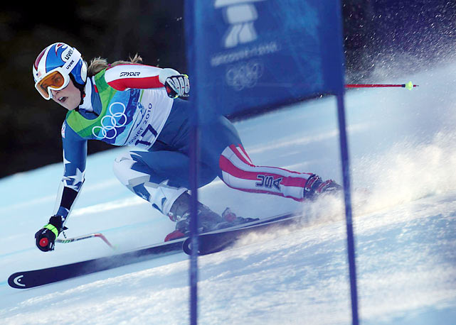 """Once I passed the tricky sections, I think I let off the gas pedal a little bit. I just didn't continue with that aggression all the way to the finish,"" Lindsey Vonn said. ""That's where I lost the race."""