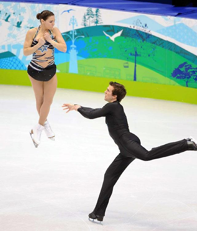 Canada's Jessica Dube and Bryce Davison.