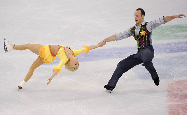 Germany's Maylin Hausch and Daniel Wende.