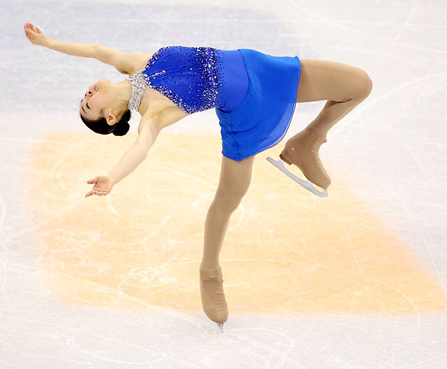 The clear favorite in women's figure skating, Kim Yu-na lived up to expectations and delivered South Korea its first Olympic medal in a sport other than speedskating. Shattering her previous record by more than 18 points, Yu-na skated a program that set her more than 20 points apart from her nearest competitor.