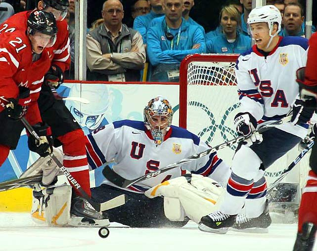 Canada outshot the United States 45-23 yet couldn't badly dent netminder Ryan Miller, who made 42 saves.