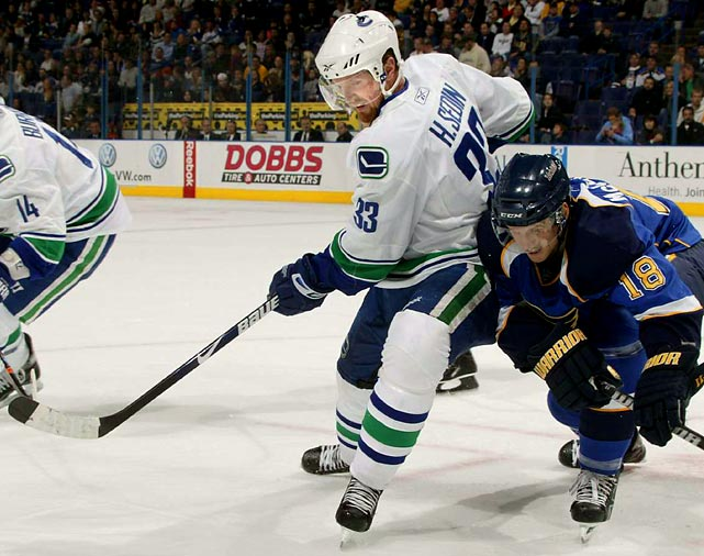With Mats Sundin retired, Daniel Alfredsson injured and Forsberg in decline, the timing of Sedin's breakthrough season couldn't be better for a team that needs its Next Gen stars to step into more prominent roles. The NHL's leading scorer has transformed his game over the past two months, working harder down low and shooting so often that teams can no longer simply defend the pass. Playing alongside brother Daniel at his home rink in Vancouver, he gives the Swedes a real chance to repeat as champs.