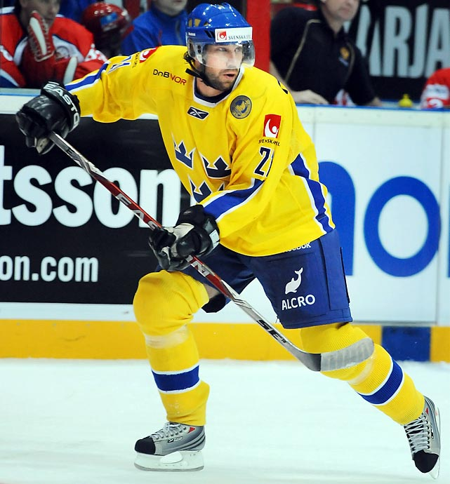 A pair of wonky ankles suggest he won't be the same player he was when he led Sweden to Olympic gold in 1994 and 2006, but they didn't prevent his surprise naming to the roster of the defending champs. With 15 points in 10 games for MoDo of the Swedish Elitserien, Foppa clearly hasn't lost his touch. He'll be counted on for leadership and his physical presence.