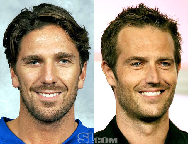 <b>Henrik Lundqvist</b> - <i>goalie, Sweden</i><br><b>Michael Vartan</b> - <i>actor</i>