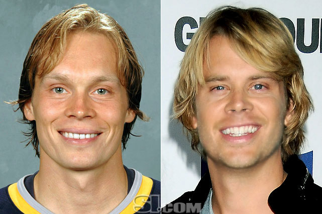 <b>Maxim Afinogenov</b> - <i>right wing, Russia</i><br><b>Eric Christian Olsen</b> - <i>actor</i>