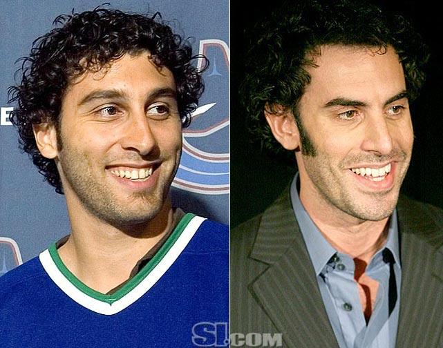 <b>Roberto Luongo</b> - <i>goalie, Canada</i><br><b>Sacha Baron Cohen</b> - <i>actor</i>