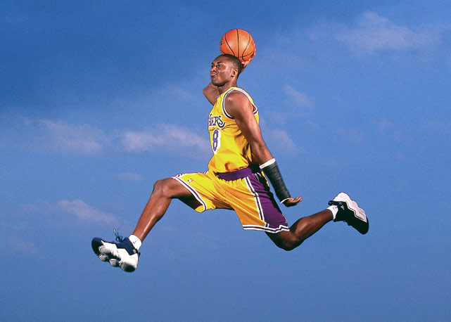 Yes, he can jump really high and and really far and dunk really hard. That's Kobe.