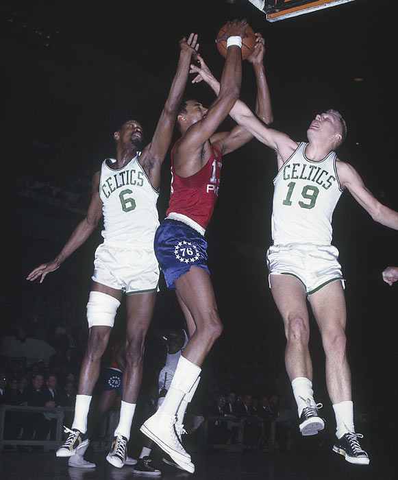 Chamberlain's first foray into the pros brought him to the then-Philadelphia Warriors in 1959. With the Warriors, the Philadelphia native became the first player to break the 2,000-rebound barrier in a single season.