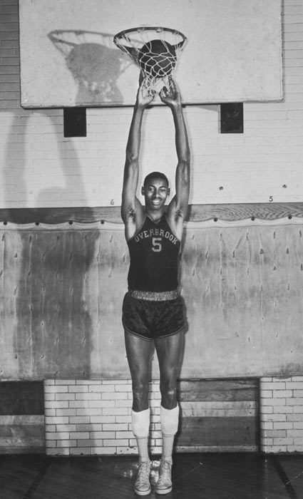 Chamberlain played for his high school basketball team the Overbrook Panthers. He would go on to score 2,252 points during his high school career.