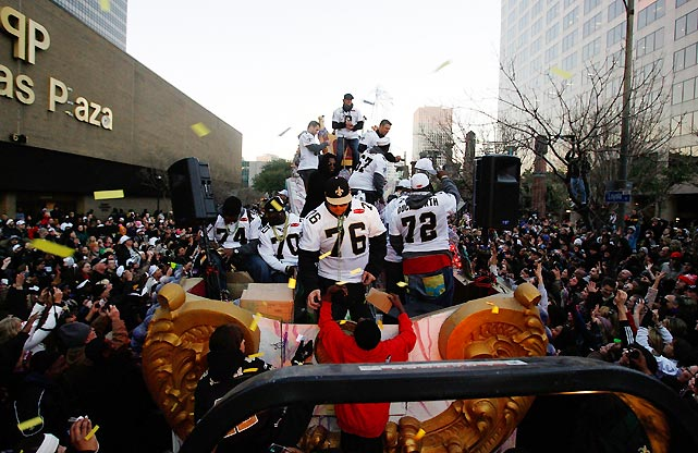 New Orleans honored the Saints' first Super Bowl win with a Mardi Gras-flavored parade.