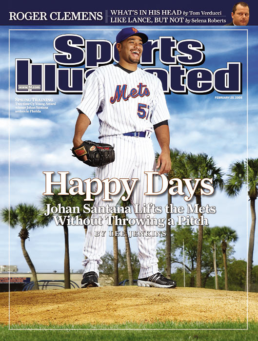 In the richest contract ever given to a pitcher, southpaw Johan Santana agrees to a $137.5 million, six-year deal with the Mets.