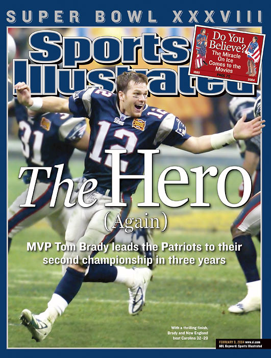 At Super Bowl XXXVIII in Houston, New England defeats the Carolina Panthers 32-29 for their second title in two years.