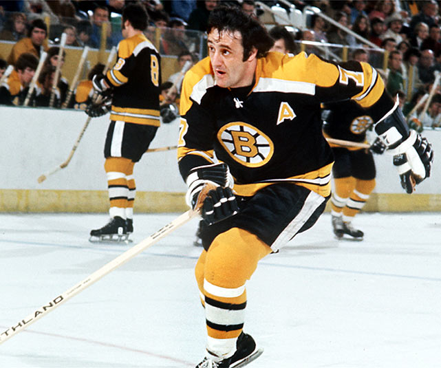 In a 4-2 victory over Vancouver, Boston's Phil Esposito scores his 1,000th NHL point.