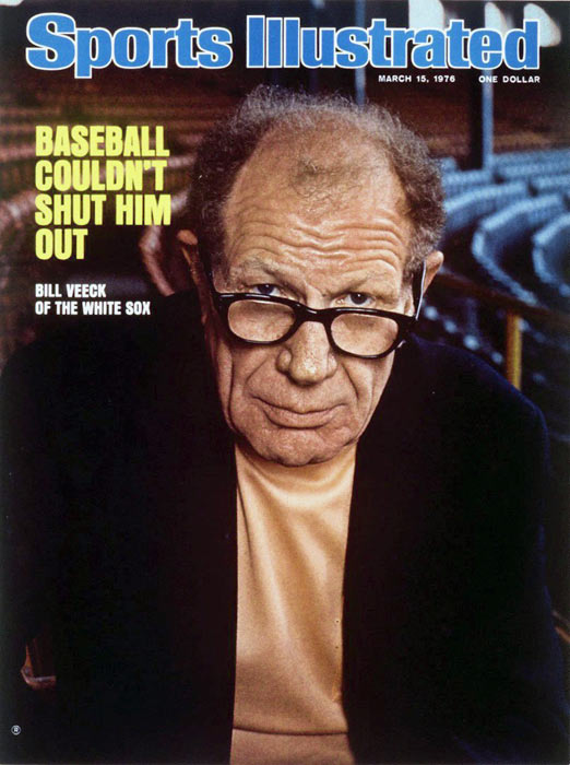 Bill Veeck (pictured) and Tony Lazzeri are elected to the Baseball Hall of Fame.