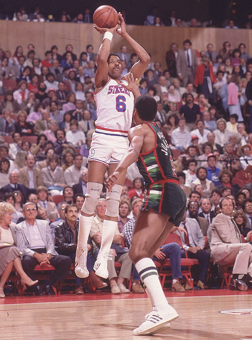 Philadelphia's Julius Erving passes Elvin Hayes (27,313 points) as the third leading all-time scorer in pro basketball history during the 76ers' 116-97 loss at Milwaukee.