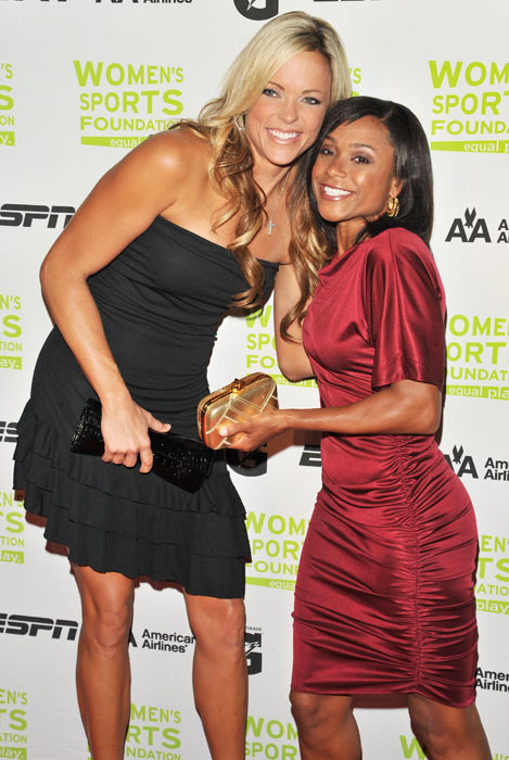 Jennie Finch and Dominique Dawes attend the 30th Annual Salute To Women In Sports Awards in New York City.